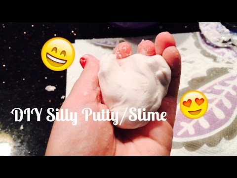 DIY Cornstarch & Dishsoap Silly Putty/Slime