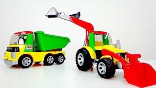Download Traktör, ekskavatör ve Rubbie. Erkek çocuk oyuncakları. Video