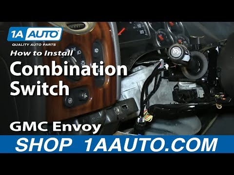 How To Install Turn Signal Wiper Cruise Control Switch 2002-09 GMC Envoy Chevy Trailblazer