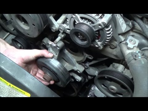 How to replace 3.7L waterpump, thermostat and coolant temp sensor 3.7L - Chrysler Dodge Jeep