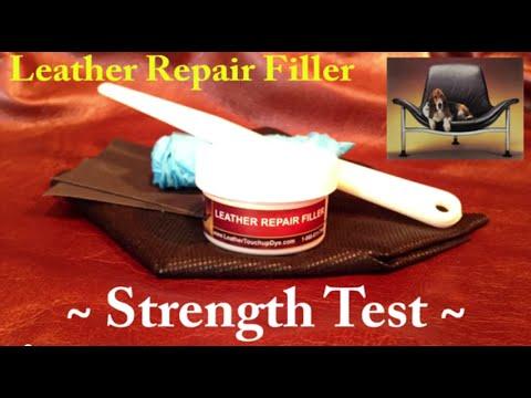 LEATHER REPAIR FILLER - Leather Repair Kit - Strength Test