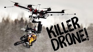 KILLERDRONE! Flying chainsaw