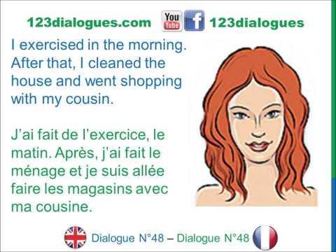 Dialogue 48 - English French Anglais Français - How was your weekend? - Tu as passé un bon week-end?