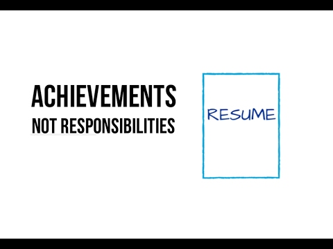 Your Resume Must Highlight Achievements