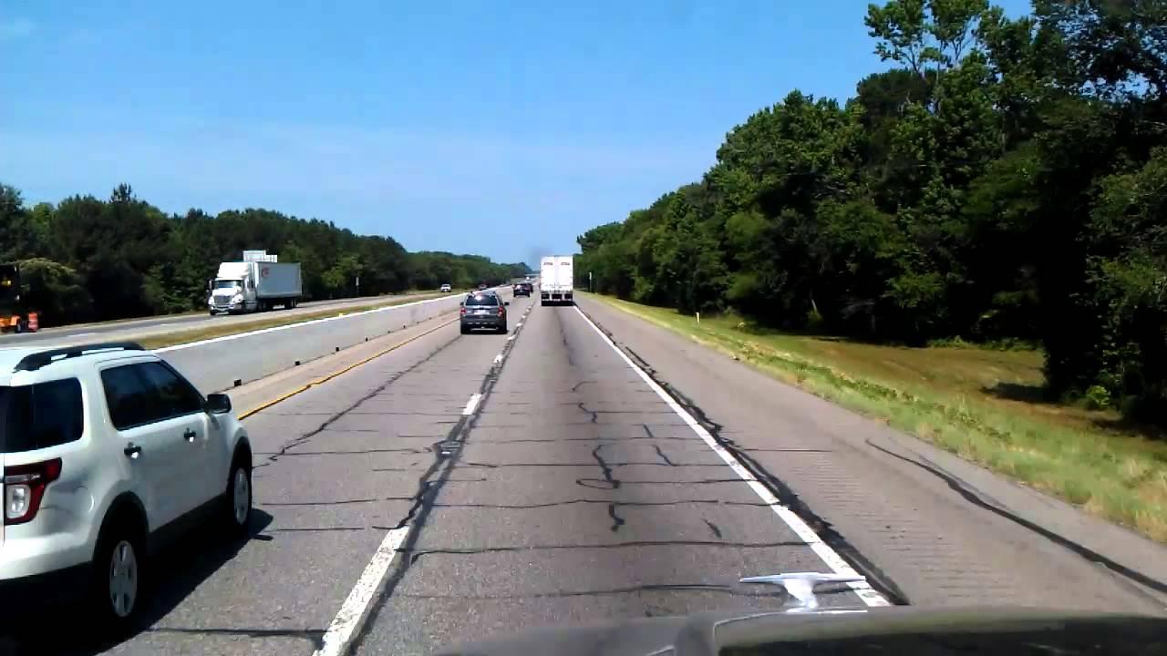 Running past Longview, Texas on Interstate 20 Westbound