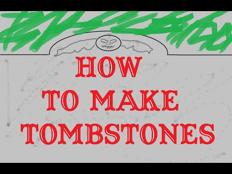 How to Make Easy and Cheap Tombstones for Halloween