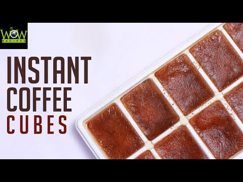 Instant Coffee Cubes for Party   How to Make Cold Coffee at Home?   Online Kitchen   Wow Recipes