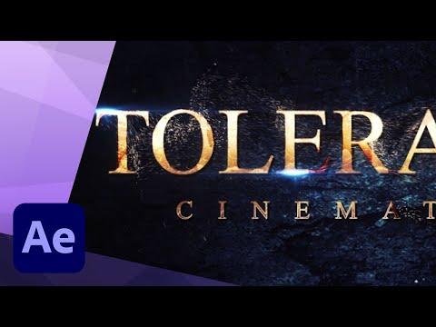 How to create a Cinematic Movie Trailer Title animation in After Effects TUTORIAL