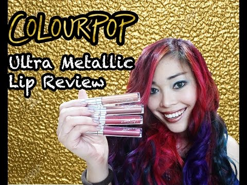 Colourpop Ultra Metallic Lip || Swatches + Tips on how to wear them!