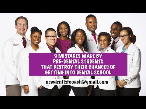 9 Mistakes PreDental Students Make When Applying to Dental School | Dr Darwin Hayes DDS