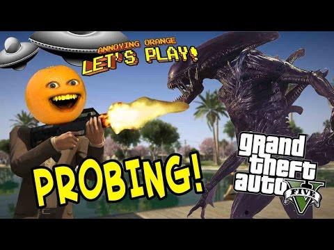 Annoying Orange Plays - GTA V: Probing!