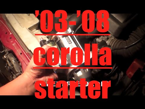 SIMPLE Follow starter motor REPLACEMENT Toyota Corolla√