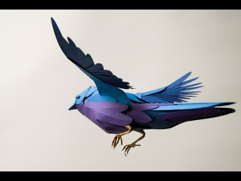 How To Make A Paper Bird - MAKE BELIEVE 2017