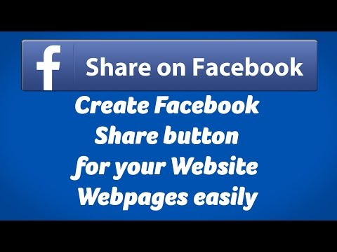 Create Facebook Share button for Website Webpages