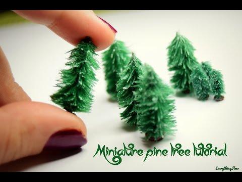 Miniature snowy pine tree tutorial