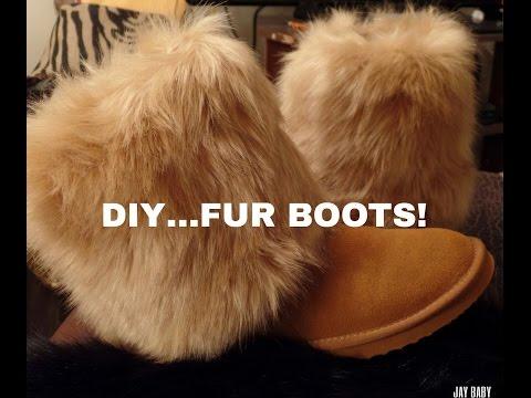 DIY..FUR BOOTS!