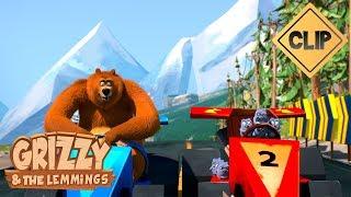 Une spectaculaire course de voiture - Grizzy & les Lemmings