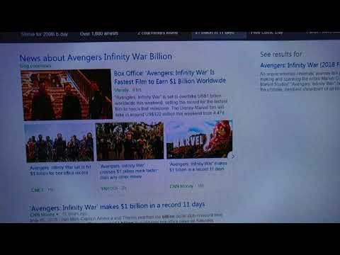 AVENGERS INFINITY WAR WAS FASTEST FILM TO EARN $1 BILLION DOLLARS IN 11 DAYS