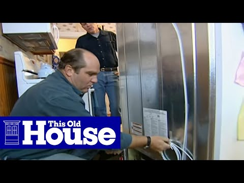 How to Connect a Refrigerator Water and Ice Dispenser - This Old House