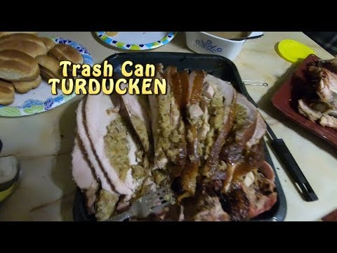 TURDUCKEN. Trash Can Holiday Treat