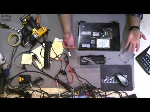 Toshiba Portege R705 Hard Drive Removal Upgrade