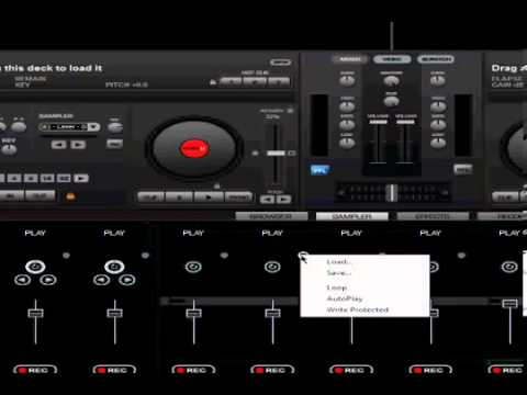 Virtual dj   Samples and effects