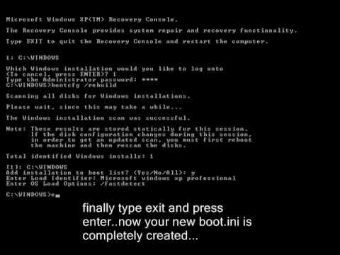 How to create boot.ini