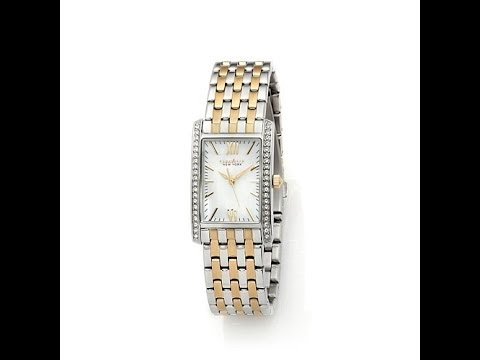 Caravelle NY Women's Rectangular TwoTone Watch