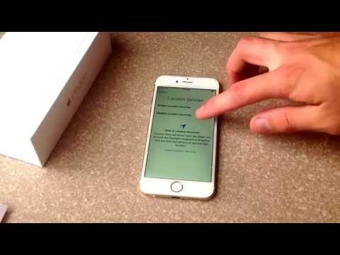 Startup and activation iPhone 6