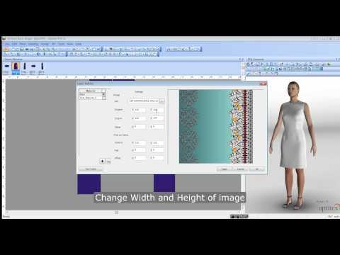 Optitex Tutorial - Creating a Printed Fabric Virtual Sample