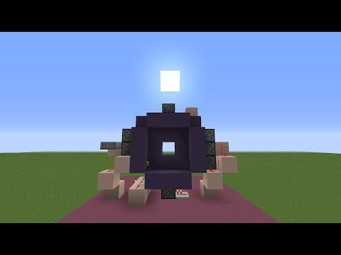 Minecraft Fast & Compact 3x3 Piston Door