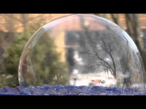 Soap Bubbles Freezing