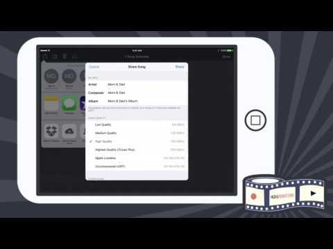 Exporting GarageBand into iMovie
