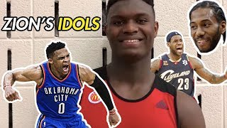 """I Look Up To LeBron, Westbrook & Leonard!"" Zion Williamson Talks NBA! Full McDonald"