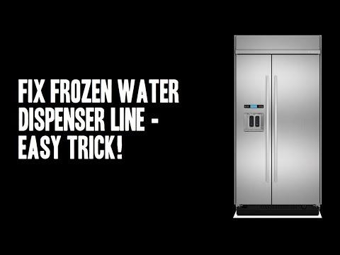 Fix Frozen Refrigerator Water Dispenser Line Video