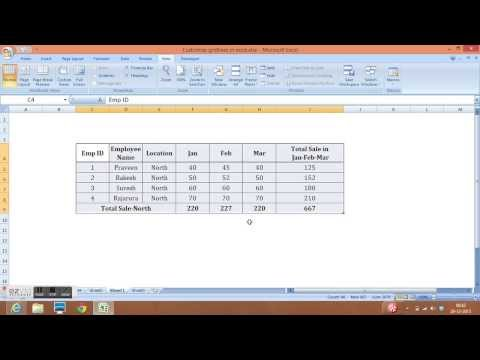 Customization of Gridlines, Row Heading, Column Heading and Formula Bar in Excel