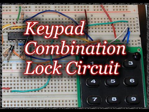 Keypad Combination Lock Circuit