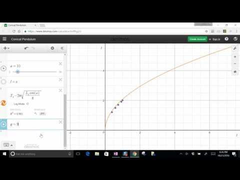 Desmos Conical Pendulum Fit