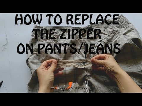 How to replace the zipper on pants with a fly and jeans