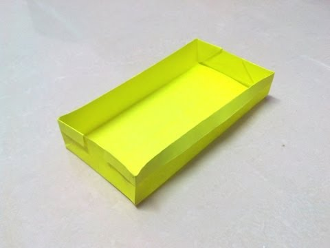 How to make a rectangular origami box.