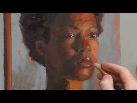 How to Paint Acrylic Portrait Video Course
