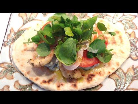 Greek style chicken sandwich