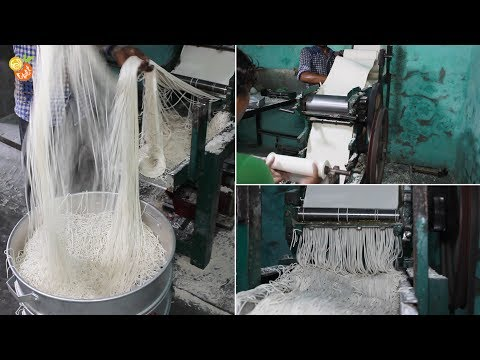 Raw Noodles Making & Many More - Indian Street Food - Indian Food Factory