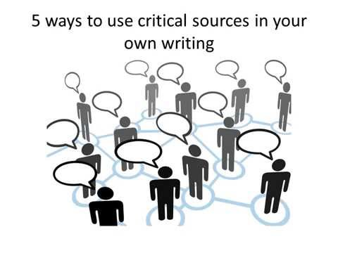 Lit Crit Tips: Using Secondary Sources