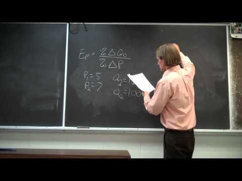 Own Price Elasticity of Demand - Example