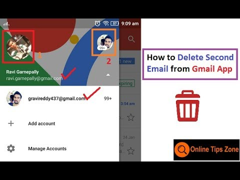 How to delete Gmail account on Mobile