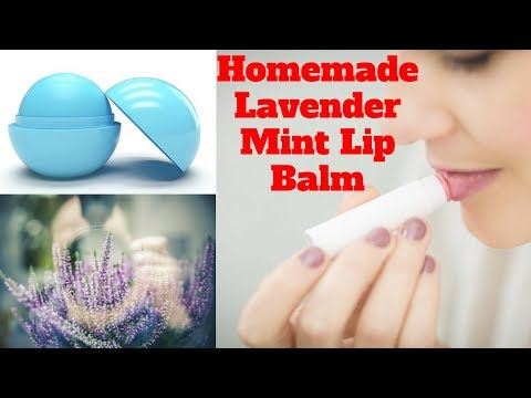 Homemade Lavender Mint Lip Balm