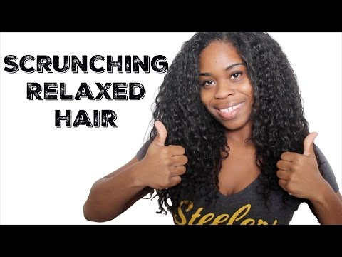 Scrunching RELAXED (Texlaxed) HAIR | Tutorial