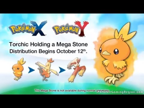 Pokemon X and Y Torchic Online Event Gameplay