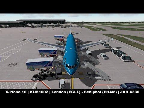 X-Plane 10] KLM1002   Heathrow (EGLL) - Schiphol (EHAM